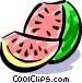 Watermelon Vector Clip Art image