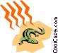 Lizards Vector Clip Art picture
