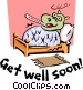 Get Well Soon! Vector Clipart illustration