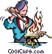 Chef cooking Vector Clip Art picture