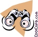 Binoculars Vector Clipart graphic
