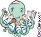 Octopus nurse Vector Clipart picture