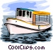 Fishing boat Vector Clipart illustration