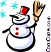 Snowman Vector Clipart illustration