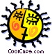The Sun Vector Clipart image