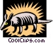 Armadillo Vector Clipart illustration