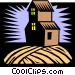 farm house Vector Clipart illustration