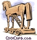 Trojan Horse Vector Clipart graphic