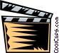 clapboard Vector Clipart image