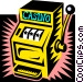 Slot machine Vector Clip Art image