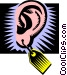 ear Vector Clipart graphic