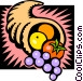 Cornucopia, harvest Vector Clipart graphic