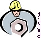construction worker Vector Clipart image