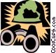 binoculars Vector Clipart graphic