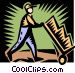 man working Vector Clipart illustration