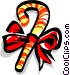 Christmas decorations candy cane Vector Clip Art image