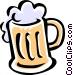 mug of beer Vector Clipart illustration