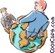 global business Vector Clipart illustration