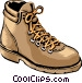 Hiking shoes Vector Clipart graphic