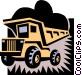 dump truck Vector Clip Art image