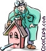 Building contractor Vector Clip Art image