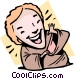 person laughing Vector Clipart picture