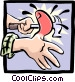hitting thumb with hammer Vector Clip Art image