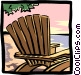 Lounge chair Vector Clip Art graphic
