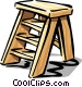stepladder Vector Clipart graphic