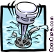 water pump Vector Clipart picture