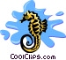 seahorse Vector Clipart picture