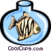 fish in fishbowl Vector Clipart illustration