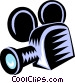 motion picture movie camera Vector Clip Art image