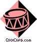 drum symbol Vector Clipart illustration