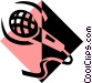 Microphone symbol Vector Clip Art image