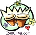 flower pots Vector Clipart picture