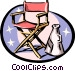 Director's chair and megaphone Vector Clipart illustration