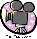 motion picture movie camera Vector Clip Art picture