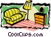 living room Vector Clip Art graphic