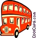 double-decker bus Vector Clipart picture