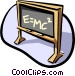 Black board E=MC2 Vector Clipart picture