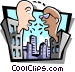 conversation between two Vector Clipart picture