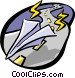 paper airplane Vector Clipart illustration
