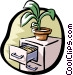filing cabinet Vector Clipart image