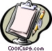 clipboard and pencil Vector Clip Art graphic