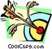 hitting the bull's-eye Vector Clip Art picture