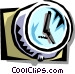 clock on the wall Vector Clip Art image