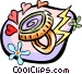 mood ring with 60's flower Vector Clipart picture