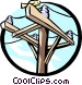 Hydro pole Vector Clipart graphic