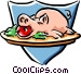 pig feast Vector Clipart graphic
